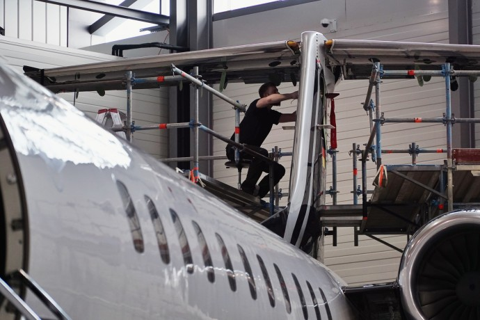 C-check of the Embraer Legacy 650